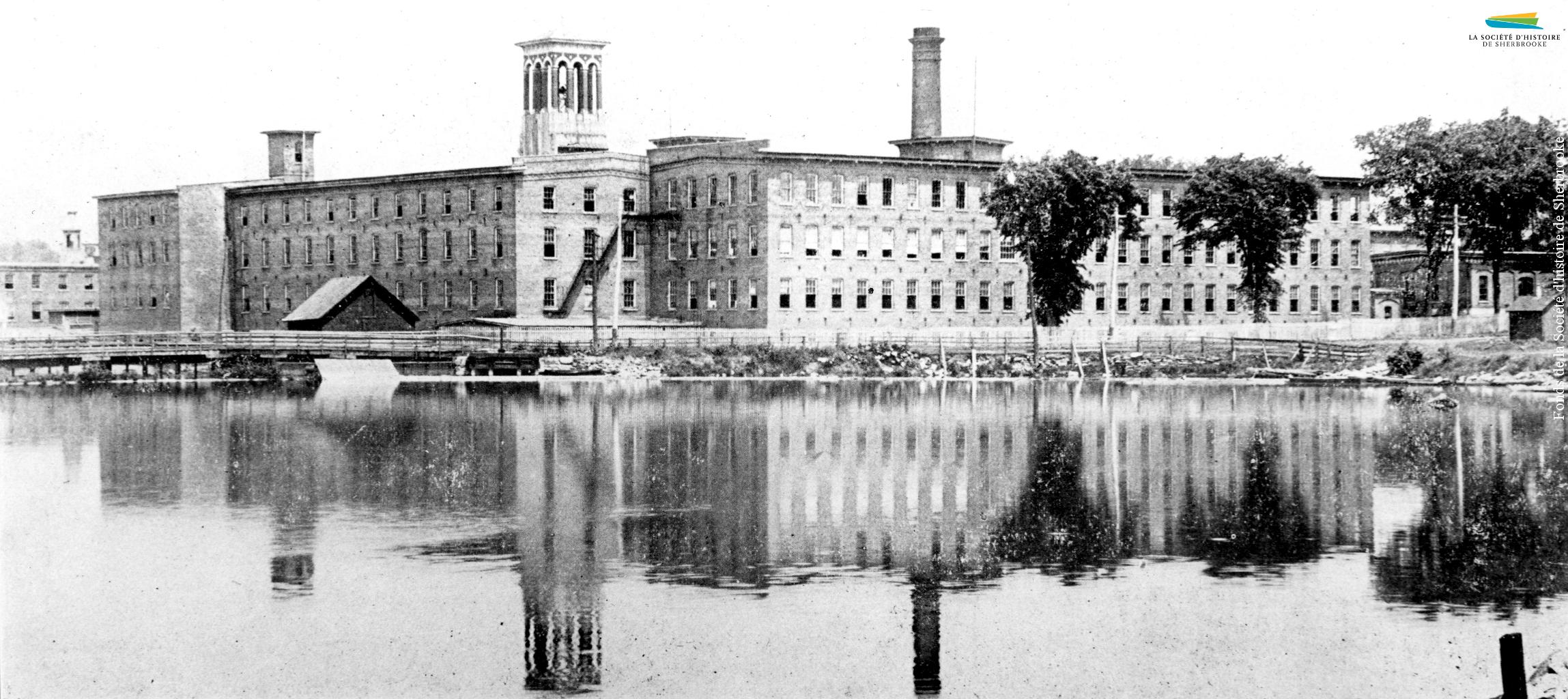 Le complexe industriel de l'usine de lainage Paton, vers 1910.